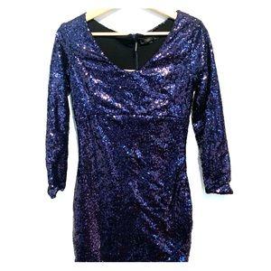 Blue Sequins Dress (NEW)